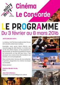 Cinéma municipal Le Concorde – Programme – Février 2016