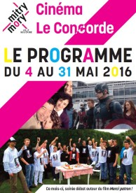 Cinéma municipal Le Concorde – Programme – Mai 2016