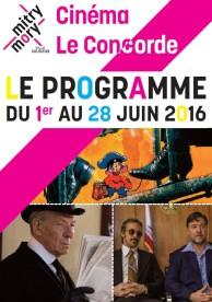 Cinéma municipal Le Concorde – Programme – Juin 2016