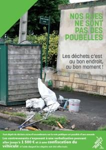 Nos rues ne sont pas des poubelles 2