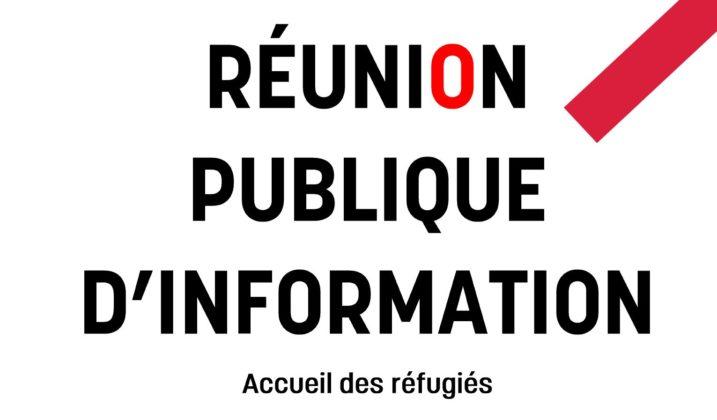 Réunion publique : accueil des réfugiés