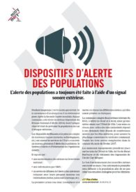 Dispositifs d'alerte des populations