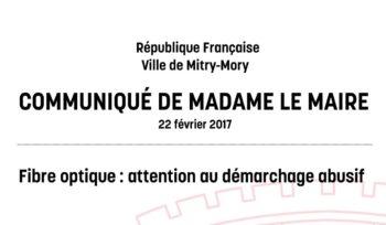 Communiqué de madame la maire