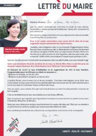 Lettre du maire – Mars 2017