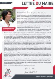Lettre du maire – 15 mai 2017