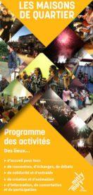 Programme des activités des maisons de quartier
