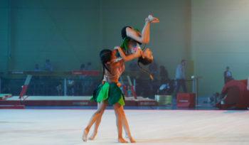 Le jeunes gymnastes font le show