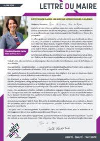 Lettre du maire – Juin 2018