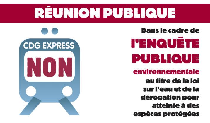 CDG Express : réunion publique