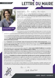 Lettre du maire – Décembre 2018