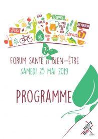 Programme du Forum santé et bien-être 2019