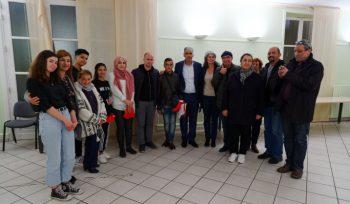 Accueil d'une délégation de jeunes Palestiniens