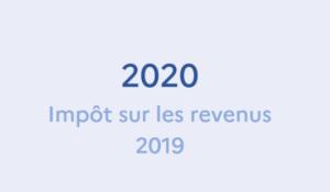 Déclaration des revenus de 2019