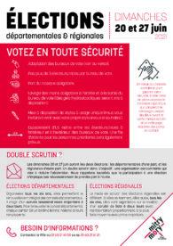Élections départementales et régionales – Juin 2021
