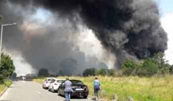 Incendie dans la zone industrielle